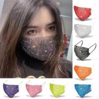 EEUU Stock mascarillas diseñador de máscaras faciales las mujeres máscara de Halloween máscara de protección solar de las lentejuelas con máscaras de diamantes de imitación de diamante FY0054 mascarilla