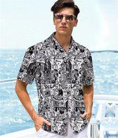 Печать Щитовые мужские Рубашки повседневные Мужчины одежды 3D цифровой печати Мужские дизайнерские рубашки Мода газета MULIT