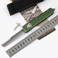 """Microtech Ultratech UTX-85 UT85 UT70 D / A önünde Oto Bıçak dışarı (CNC D2 çelik 3.4"""" saten) 6061-T6 alüminyum kulp EDC Cep bıçakları"""