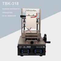 جديد TBK-318 3 في 1 فراغ شاشة lcd فاصل + تسخين + oca الغراء المستقطب المزيل الهاتف المحمول شاشة LCD تجديد الجهاز