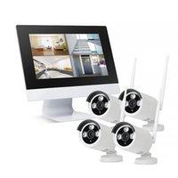 "Zgwang HD 1080P 4CH Wireless NVR CCTV نظام 2MP WiFi IP كاميرا أمنية مراقبة فيديو كيت مع شاشة رصد 10.1 ""شاشة LCD"