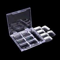 Eye Shadow DIY Empty 6 Square Grid Eyeshadow Lipstick Powder Box Case Cosmetic Packing+6PCS Palette