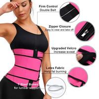 Shaperwear Bel Trainer 2 Kemerler Neopren Kemer Cincher Vücut Şekillendirici Karın Kontrol Kayışı Zayıflama Ter Yağ Yakma Kemer 3 adet