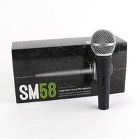 Venda quente SM58S Microfone com fio com Micheld Mict Handheld de Karaoke de Interruptor para Estágio de Reunião e uso em casa com caixa de varejo