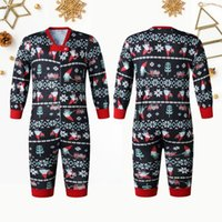 Skiing Suit 부모 - 자식 겨울 따뜻한 O 넥 크리스마스 세트 인쇄 된 홈 착용 잠옷 아기 부드러운 편안한 고품질 clothin