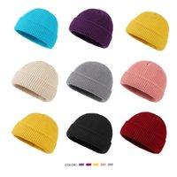 Unisex Strickmütze Hut Herbst-Winter-Outdoor-Sport-warmer Hut Paar Studenten Solid Color Wolle Schädel Caps