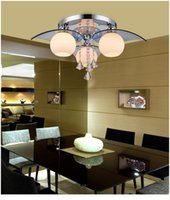 Modern K9 Kristal Colrful LED Işık Avize Lambası Ev Deco Cam Topu LED Avize Işık Armatür ücra Kontrolü