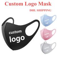 Maschere logo personalizzato del partito personalizzato Maschera anti polvere per viso Ciclismo Camping viaggio Maschera anti ghiaccio seta riutilizzabile DHL