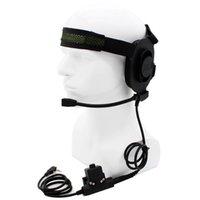 2X CS HD01 Z Tactical Headset Earpiece U94 PTT BaoFeng UV5R Kenwood WalkieTalkie