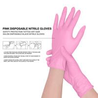 قفازات عالية الجودة السلامة المتاح الوردي الوشم Mskeup الدائم الفن صالون واقية النتريل