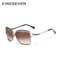 الشمس Kingseven 2020 ريترو إمرأة نظارات الاستقطاب فاخر مصمم السيدات العلامة التجارية التدرج عدسة نظارات نظارات شمسية للمرأة أنثى CH01