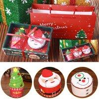 Regalo de la decoración de Navidad de la toalla de Santa Claus muñeco de nieve del árbol de navidad algodón súper suave toalla Partido linda forma de diseño de la magdalena