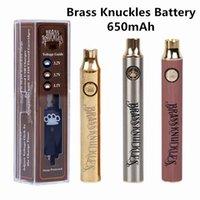 Batterie en laiton Batterie 650MAH 900mAh Voltage de la variable Prechauffer Stylo de batterie E-Cigarette pour une batterie de Vape à huile d'huile épaisse de 510
