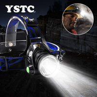 헤드 램프 LED 헤드 램프 슈퍼 밝은 헤드 라이트 3 모드 T6 / L2 충전식 방수 줌 가능 캠핑 낚시 조명 2 * 18650 건전지 사용