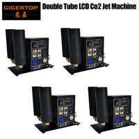 4 stücke Doppelrohr CO2 Jet Blaster Mini Größe montiert Keller LCD Display Power In / Out Abschlussbare Neutrik Anschluss TP-T25B