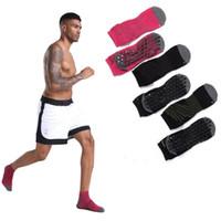 عالية الجودة أنبوب كرة السلة للرجال جوارب الأوسط المضادة للانزلاق واليوغا الجوارب القطنية الرياضة الجري الترامبولين للرجال