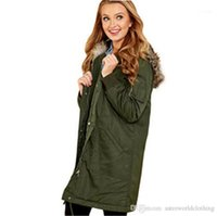Collar Winter Jacket Casual Warm Womens Outerwear Designer Womens Trench Coats Fashion Solid Color Faux Fur