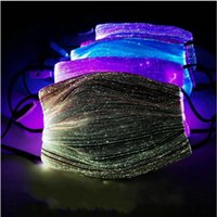 LED 빛 빛나는 마스크의 USB 변경 가능 빛난 할로윈 라이트 업 절반 얼굴 디스코 파티 입 커버 해 배송 DDA525 마스크