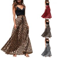 Stampa delle donne Gonne Designer A Casual Line Gonne Colore Naturale delle donne Gonne Moda Abbigliamento Pleuche Leopard