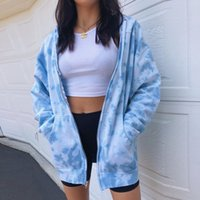 Tie Dye Hooded Womens Coats Spring Autumn Loose High Street ...