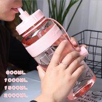 الترويجية 21oz 35oz 53oz 71oz الصف الغذاء الآمن سعة كبيرة زجاجة المياه الرياضة في الهواء الطلق السفر زجاجة التخييم المشي لمسافات طويلة المياه البلاستيكية