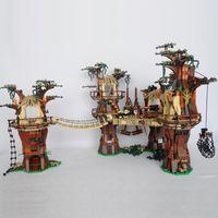 05047 US En stock 1990pcs Star Toys Wars Wars Ewok Village Bâtiment Blocs Briques Toys 10236 180016 Cadeaux