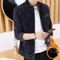 Cappotti Plus Size Pure Color Sports tuta sportiva di modo casuale del progettista Uomo Abbigliamento Uomo Giacche Vintage Denim