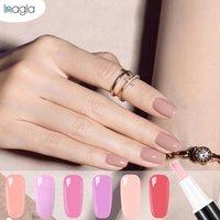 Inagla 28 couleurs Ongles UV Gel Polish vernis Pen One Step 3 en 1 Nail Art couleur Top Coat Soak Off Gel UV Peinture Colle