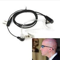 FBI 스타일 헤드셋 이어폰 이어폰 마이크 보안 라디오 무전기 프로 2 핀