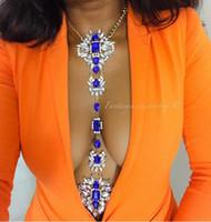 Vedawas Hot Fashion Jewelry Long Collier Crystal Body Sexy Catena Donna Estate Multicolor Maxi Dichiarazione Collana 1881