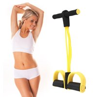 Четыре Резинки Фитнес диапазон сопротивления Rope тренажеры для Yoga Pilates Workout Latex Tube тросового Нового стиля