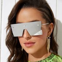 Солнцезащитные очки Европейская и американская мода Большой кадр цельный Женщина-Форма Безрамная морская пленка мужская индивидуальная ул.
