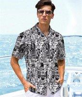 Мода газета Mulit печати Щитовые Мужские рубашки Повседневный Самцы одежды 3D цифровой печати мужские рубашки дизайнера