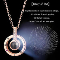 30pcs wholesale I LOVE YOU In 100 languages Projection Neckl...