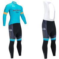 Invierno 2020 Jersey de ciclo térmico para bicicletas Pro equipo Astana Fleece Ropa de ciclo MTB de los pantalones del babero de Jersey equiparla Ropa Ciclismo Inverno