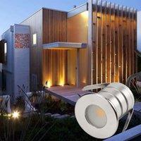 Paesaggio IP67 3W 12-24 Cob LED luce sotterranea Illuminazione esterna incasso di 90 gradi Spot Light Piano LED Deck scala lampada