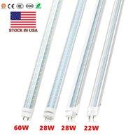 T8 4ft led tube Double Rows 28W 2500 Lumens High Bright led light Tubes AC 110-240V Stock In US