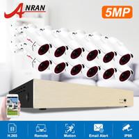 أنظمة Anran 5MP CCTV نظام 1920P بو كاميرات الأمن IR في الهواء الطلق IP66 كاميرا مراقبة الفيديو