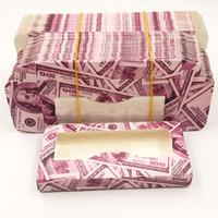 50pcs al por mayor de papel de embalaje caja de pestañas falsas pestañas cajas de envases de logotipo personalizado de imitación cils 25 mm de visón pestañas caso de mármol