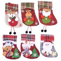 Año Nuevo Navidad que almacena el saco del regalo de Navidad Bolsa Cono Noel Decoración de Navidad para Home Natal Navidad calcetín decoración del árbol