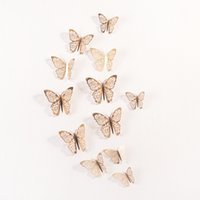 Amais 12 pc / Set 3D adesivi murali farfalla della cavità per bambini Camere casa della decorazione della parete fai da te Mariposas Frigo adesivi decorazione della stanza