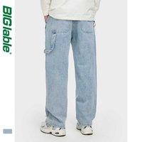 Pantalones vaqueros para hombres Hombres labrosas Relajados Fit Lavado Pantalones Denim Pantalones Estiramientos Hombres Baggy 3256W20