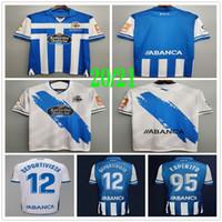 2020 2021 DePortivo La Coruna Soccer Jerseys Xoel Rober Pier Exposito Cartabia مخصص 20 21 الصفحة الرئيسية أزرق أزرق أبيض الكبار أطفال كرة القدم قميص