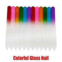 L'attrezzo di arte nuovi file di cristallo durevole Nail File chiodo variopinto di vetro Buffer NailCare Nail per strumento In manicure UV polacco della