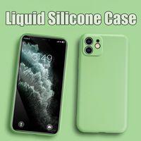 원래 공식 액체 실리콘 충격 방지 TPU 고무 소프트 케이스 갑옷 커버를 들어 아이폰 (12) 프로 맥스 (11) XS XR X 8 7 6 6S 플러스 2020 SE