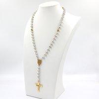 1 оптовые акции католические религиозные женщины христианские девственные марии розарийные ожерелье ювелирные изделия полихром кристалл молитвенные бусины