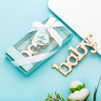 Party Favor 50pcs Baby Letter Bottle Opener Shower Souvenirs Boys And Girls Baptism Gifts Birthday Favors WB1405