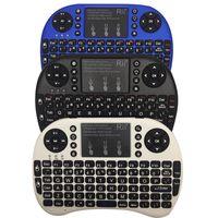 Nueva Rii mini i8 Teclado + 2.4GHz ratón inalámbrico con touchpad Panel táctil con retroiluminación LED Combo de ratón teclado recargable Li-ion