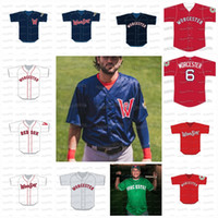2020 WoooSox Worcester Custom Baseall Jersey Mens Womens Youth Steathect Name Sticed Number с высоким качеством