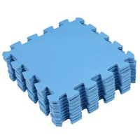 EVA Puzzle Foam Anti-Fatigue Blu Interlocking Tappetini